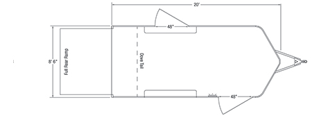 Sundowner Sportman Bumper Pull Trailer Floorplan